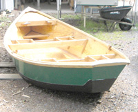 Painted Boat looking at the Transom